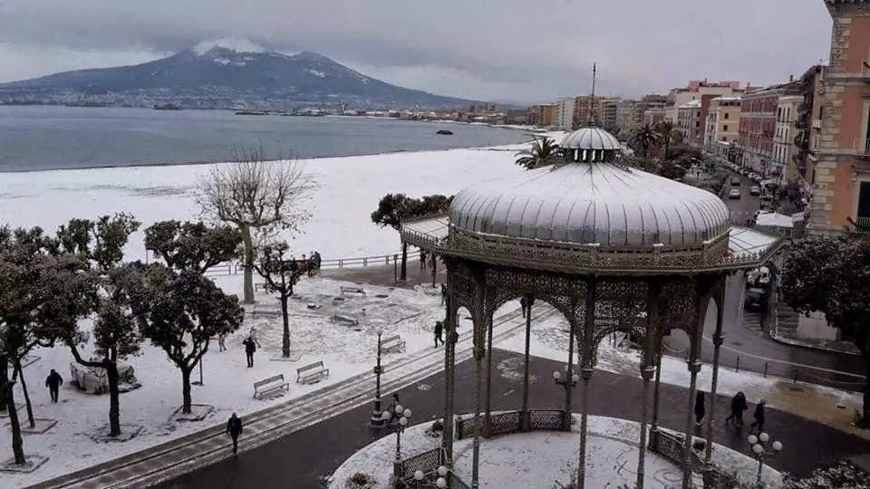 nevicata castellammare